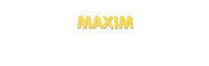 Der Vorname Maxim