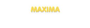 Der Vorname Maxima