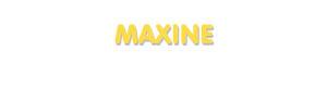Der Vorname Maxine