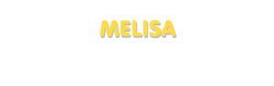 Der Vorname Melisa