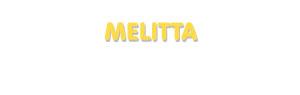 Der Vorname Melitta
