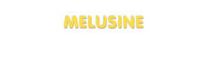 Der Vorname Melusine