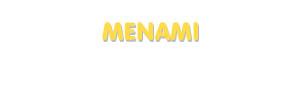 Der Vorname Menami