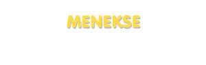 Der Vorname Menekse