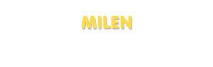Der Vorname Milen