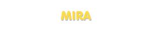 Der Vorname Mira