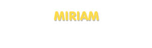 Der Vorname Miriam