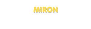 Der Vorname Miron