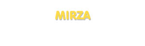 Der Vorname Mirza