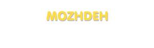 Der Vorname Mozhdeh