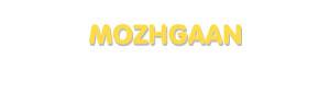 Der Vorname Mozhgaan