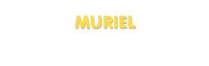 Der Vorname Muriel