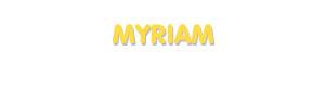 Der Vorname Myriam