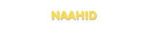 Der Vorname Naahid