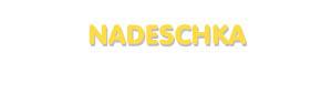 Der Vorname Nadeschka