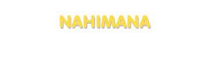 Der Vorname Nahimana