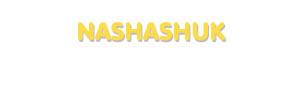 Der Vorname Nashashuk