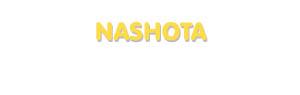 Der Vorname Nashota