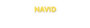 Der Vorname Navid