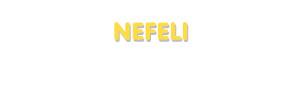 Der Vorname Nefeli