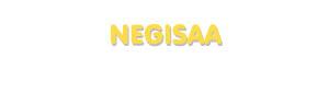 Der Vorname Negisaa