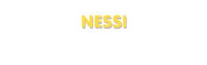 Der Vorname Nessi
