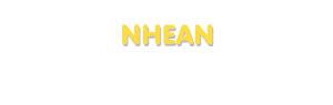 Der Vorname Nhean