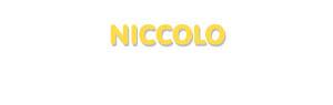 Der Vorname Niccolo