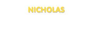 Der Vorname Nicholas