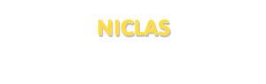 Der Vorname Niclas