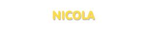 Der Vorname Nicola