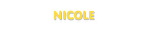 Der Vorname Nicole