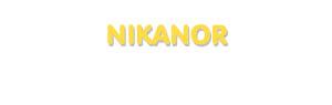 Der Vorname Nikanor