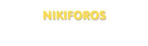 Der Vorname Nikiforos