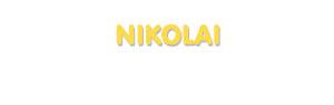 Der Vorname Nikolai
