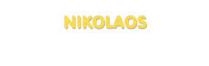 Der Vorname Nikolaos