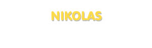 Der Vorname Nikolas