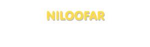 Der Vorname Niloofar