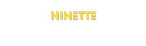 Der Vorname Ninette