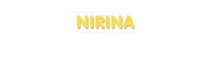 Der Vorname Nirina