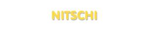 Der Vorname Nitschi