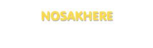 Der Vorname Nosakhere