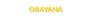 Der Vorname Obayana