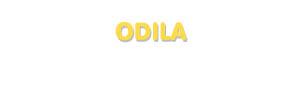 Der Vorname Odila