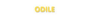 Der Vorname Odile
