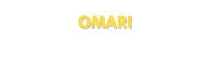 Der Vorname Omari