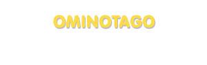 Der Vorname Ominotago