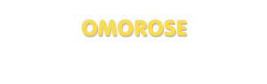 Der Vorname Omorose