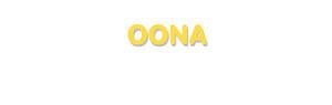 Der Vorname Oona