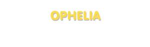Der Vorname Ophelia